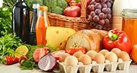 Овощи, фрукты, сыр, яйца