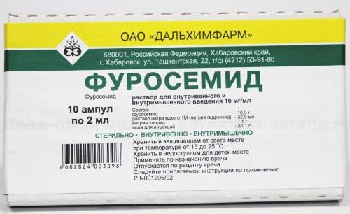 Фуросемид в ампулах