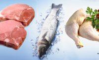 Мясо, рыба и курица