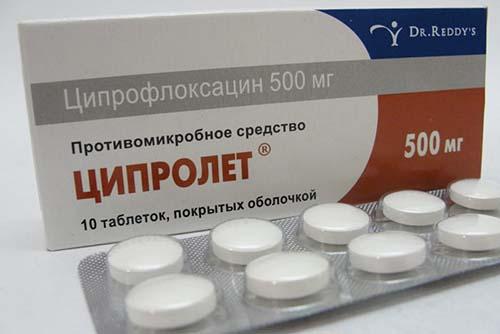 Ципролет, таблетка