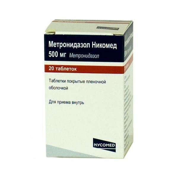 Метронидазол Никомед 500 мг инструкция по применению