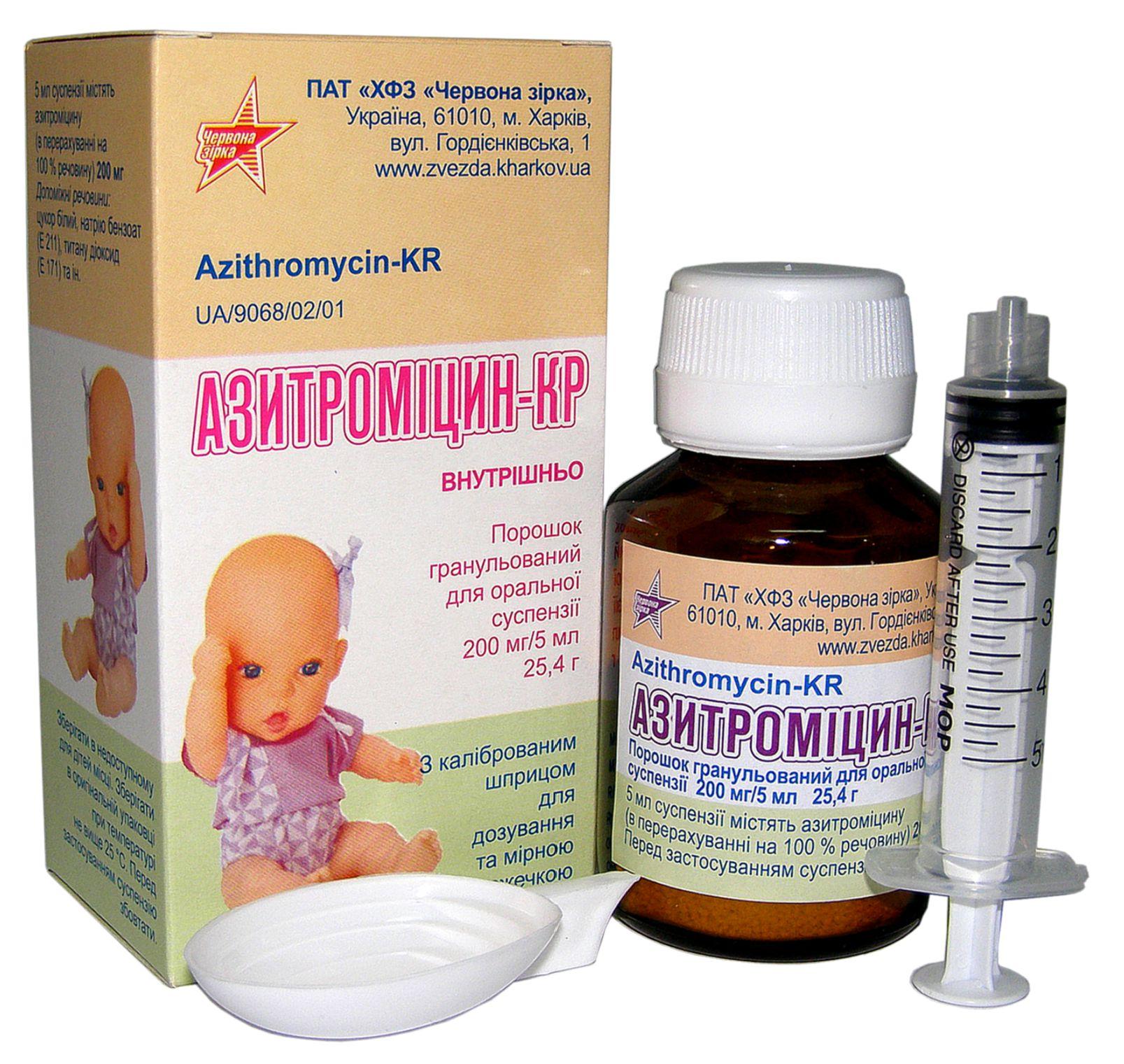 Суспензия Азитромицина для детей