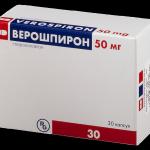 Верошпирон мочегонное