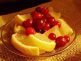 Лимон и клюква